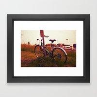no cycling  Framed Art Print