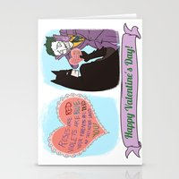 Valentine's Bat Stationery Cards
