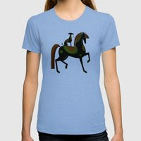 DOG REIGN Womens Fitted Tee Tri-Blue SMALL