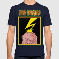 Sad Brains Mens Fitted Tee Navy SMALL