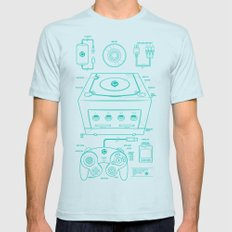 GC Mens Fitted Tee Light Blue SMALL