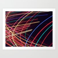 Crazy Lights. Art Print