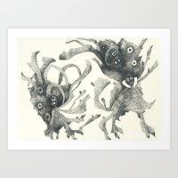 Several Creatures Art Print