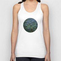 Planetary Bodies - Blue Flowers Unisex Tank Top