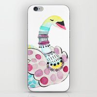 Patterned Swan iPhone & iPod Skin
