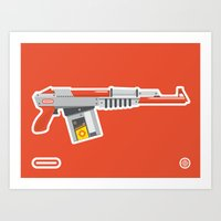 N-16 Sub Automatic Assault Light Gun Art Print