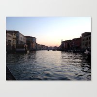 Canal Blues Canvas Print