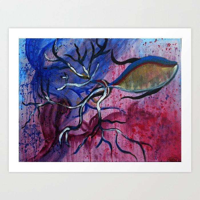 Big fish art print by lilah faye society6 for Big fish printing