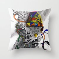 Psychoactive Bear 7 Throw Pillow