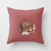 Valentine's Day with Sea Salt (Single Chocolate) Throw Pillow