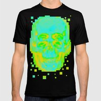 POP Skull Mens Fitted Tee Black SMALL