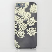 flower iPhone & iPod Cases featuring Black and White Queen Annes Lace by Erin Johnson