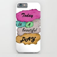 iPhone & iPod Case featuring Today is a beautiful day by Mi Nu Ra
