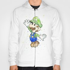 Luigi Watercolor Art Hoody