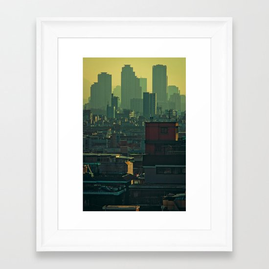 Eastern Seoul (II) Framed Art Print