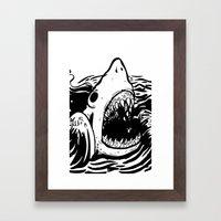 Shark off Framed Art Print