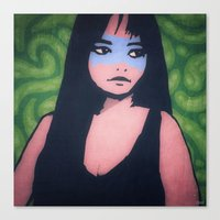 Lady Of The Blue Tribe Canvas Print