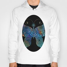 Drawn Butterfly on Black Hoody