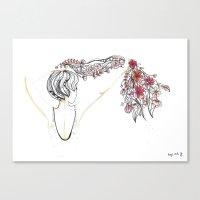 rose shower Canvas Print