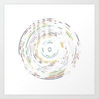 Rainbow Record Art Print