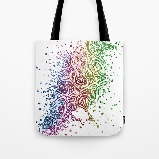 A Crow of Lace and Color Tote Bag