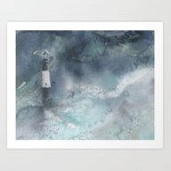 Night Storm At Tybee Lig… Art Print