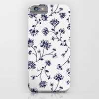 Indigo Floral Trail (reversed) iPhone 6 Slim Case