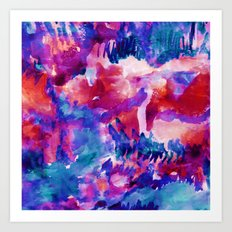 Oceans Red Art Print