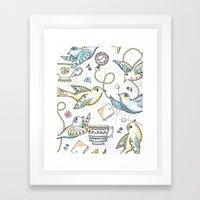 Twittering Tea Party Framed Art Print