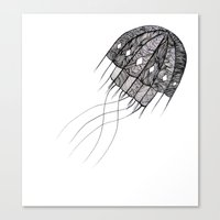 pattern jellyfish Canvas Print