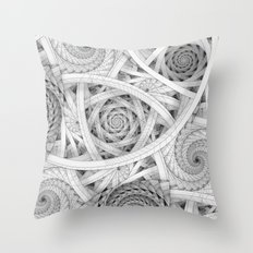 GET LOST - Black And Whi… Throw Pillow