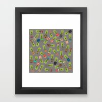 Crazy Pineapple Party Framed Art Print
