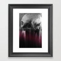 Creepy skull Framed Art Print
