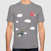 Take Flight! Mens Fitted Tee Tri-Grey SMALL