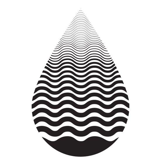 Water Drop Art Print