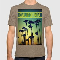 CALIFORNIA Mens Fitted Tee Tri-Coffee SMALL
