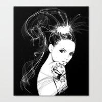 Smoke Girl Canvas Print