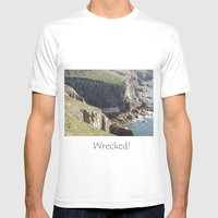 Wrecked Mens Fitted Tee White SMALL