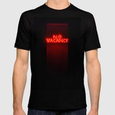 No Vacancy sign in red Mens Fitted Tee SMALL Black