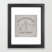 Ash's Classified Ad Framed Art Print