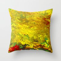 Gravity Painting 27 Throw Pillow