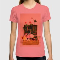 Travel happiness Womens Fitted Tee Pomegranate SMALL