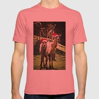 Tis The Season - Reindeer Mens Fitted Tee Pomegranate SMALL