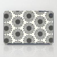 Vintage Flower_Black iPad Case