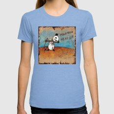 HOLD YOUR HEAD UP Womens Fitted Tee Tri-Blue SMALL