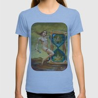 Times a Funny Thing Womens Fitted Tee Athletic Blue SMALL