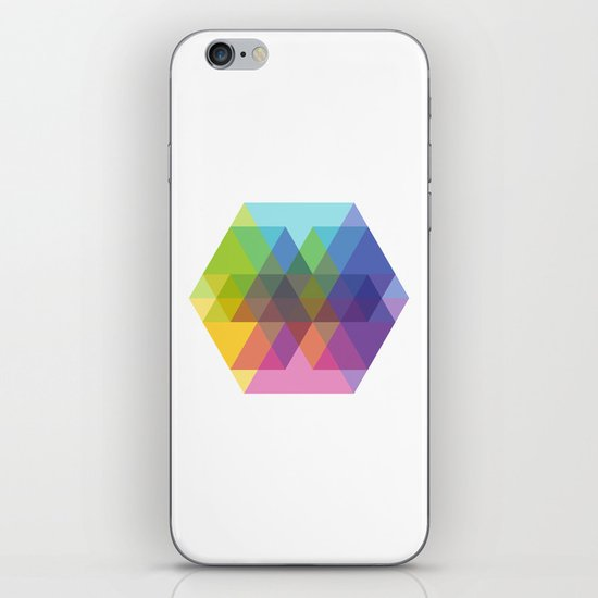 Fig. 040 Hexagon Shapes iPhone & iPod Skin