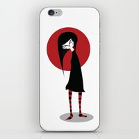 Mia On White iPhone & iPod Skin