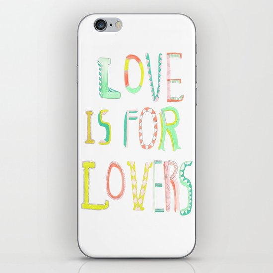 LOVE IS FOR LOVERS 2 iPhone & iPod Skin