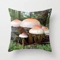 MM - Mushrooms Throw Pillow